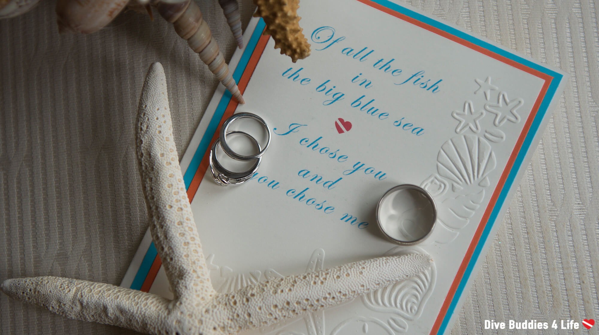Ocean Themed Wedding Invitation For A Scuba Divers Wedding