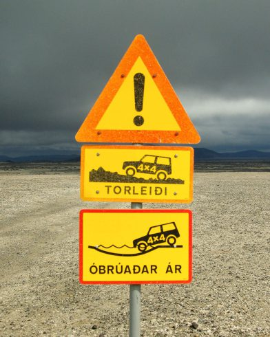 Iceland Off Road Sign