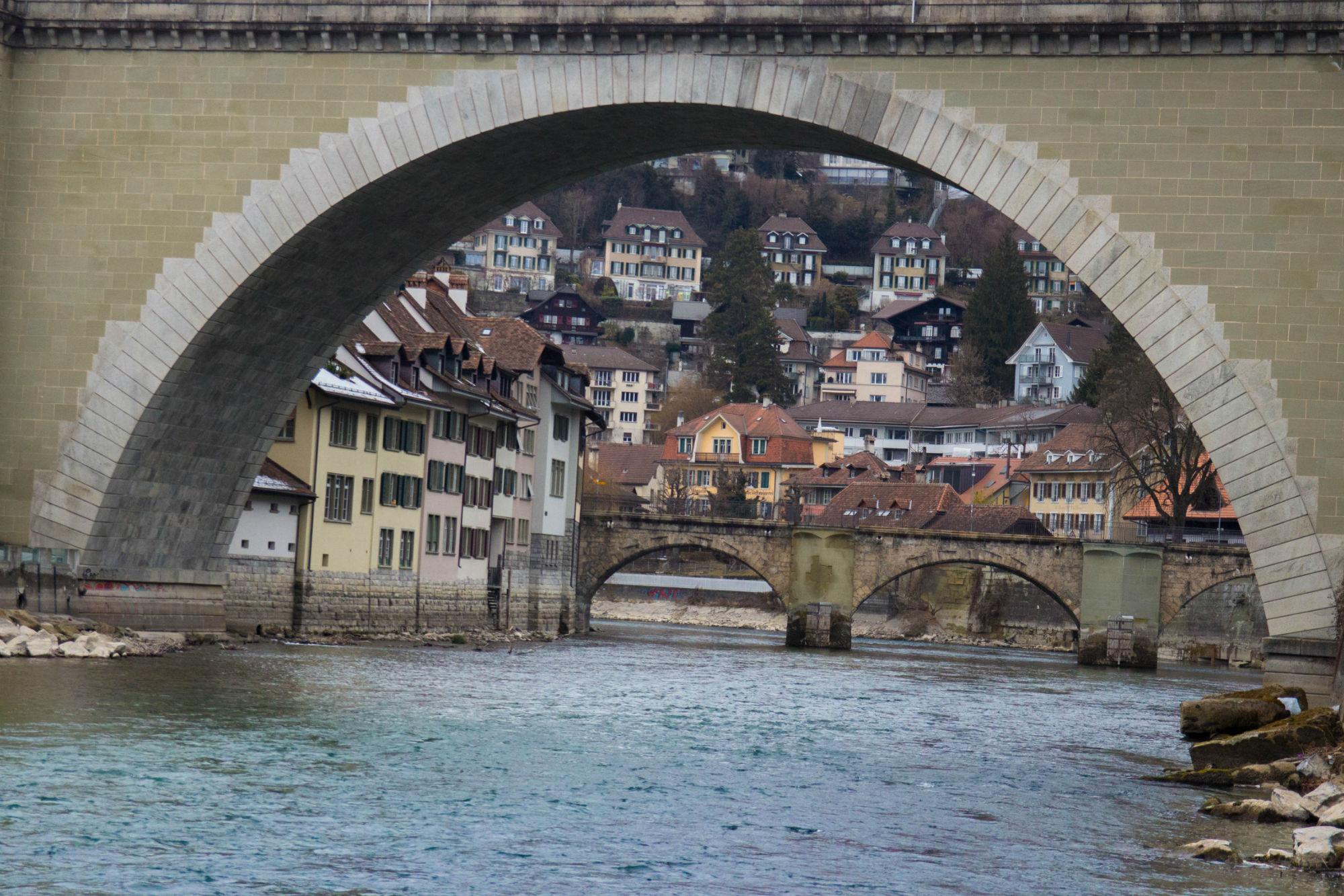 Old Bridge In Bern, Switzerland