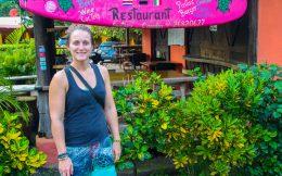 Ali at the Playa Ostional Restaurant