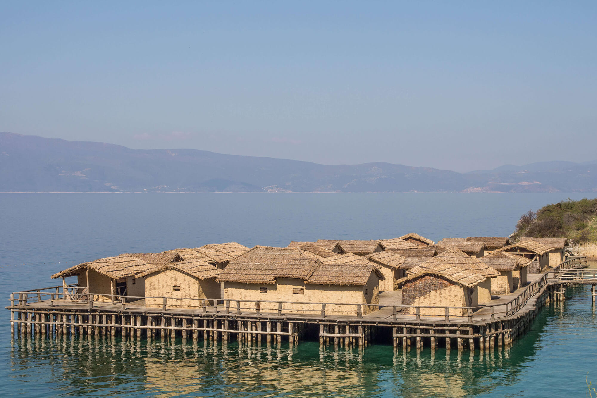 Overlooking The Bay Of Bones And The Huts In Macedonia