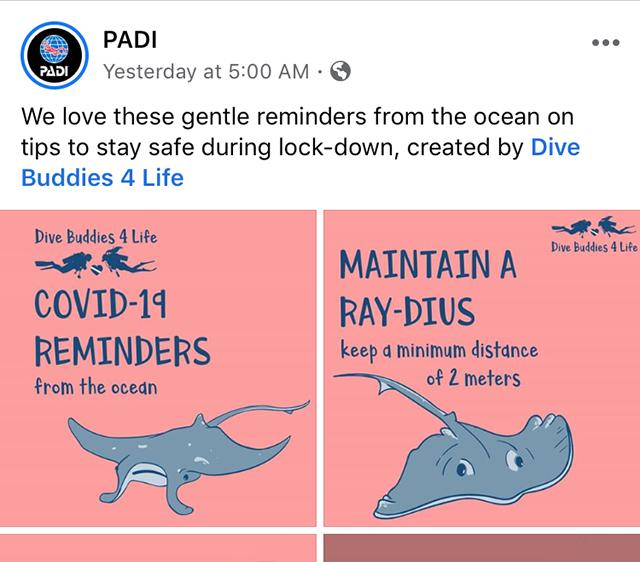PADI Social Media Feature