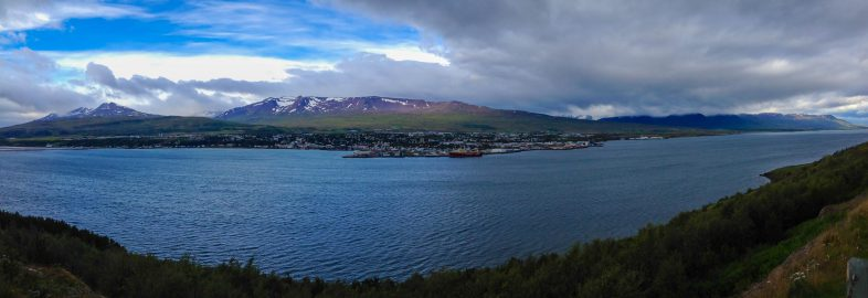 Panorama of an Iceland Town