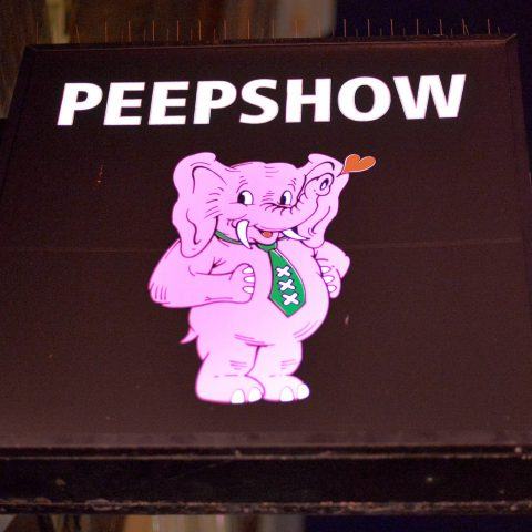 Peep Show Elephant Sign