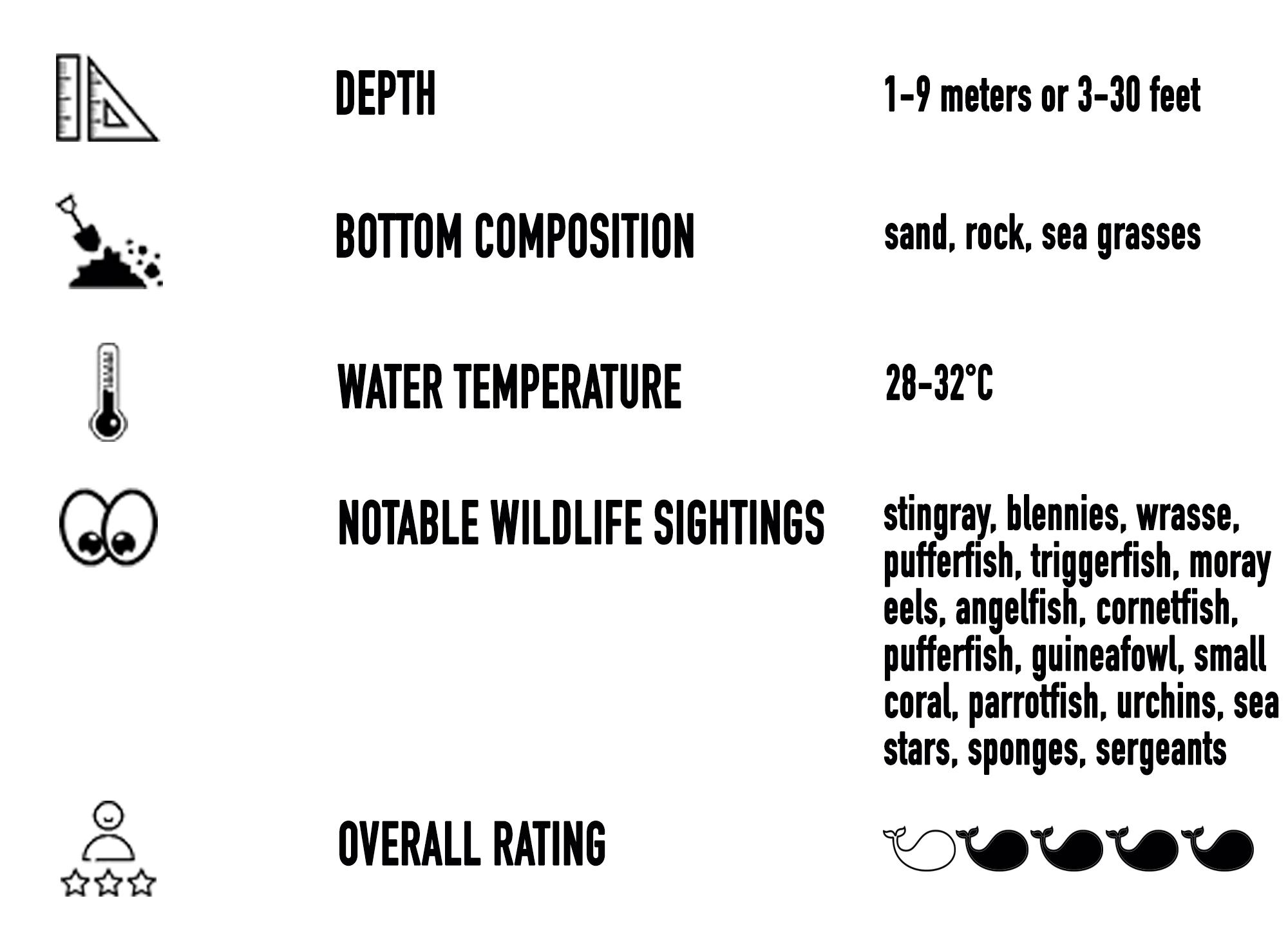 Playa Ocotal, Costa Rica Snorkeling Site Statistics