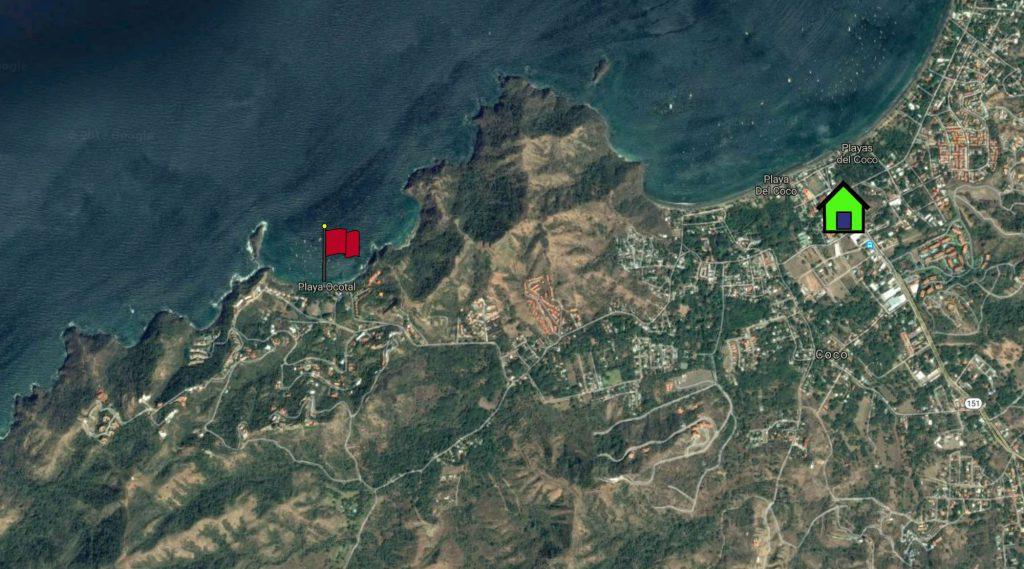 Playa Ocotal Map