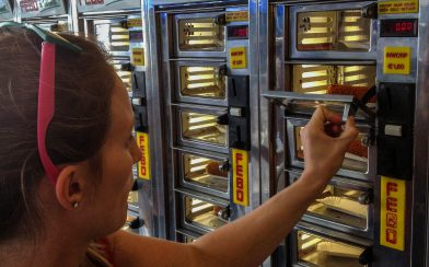Pulling Food from the Febo Doors