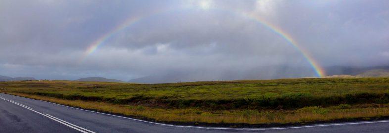Rainbow Panorama in Iceland