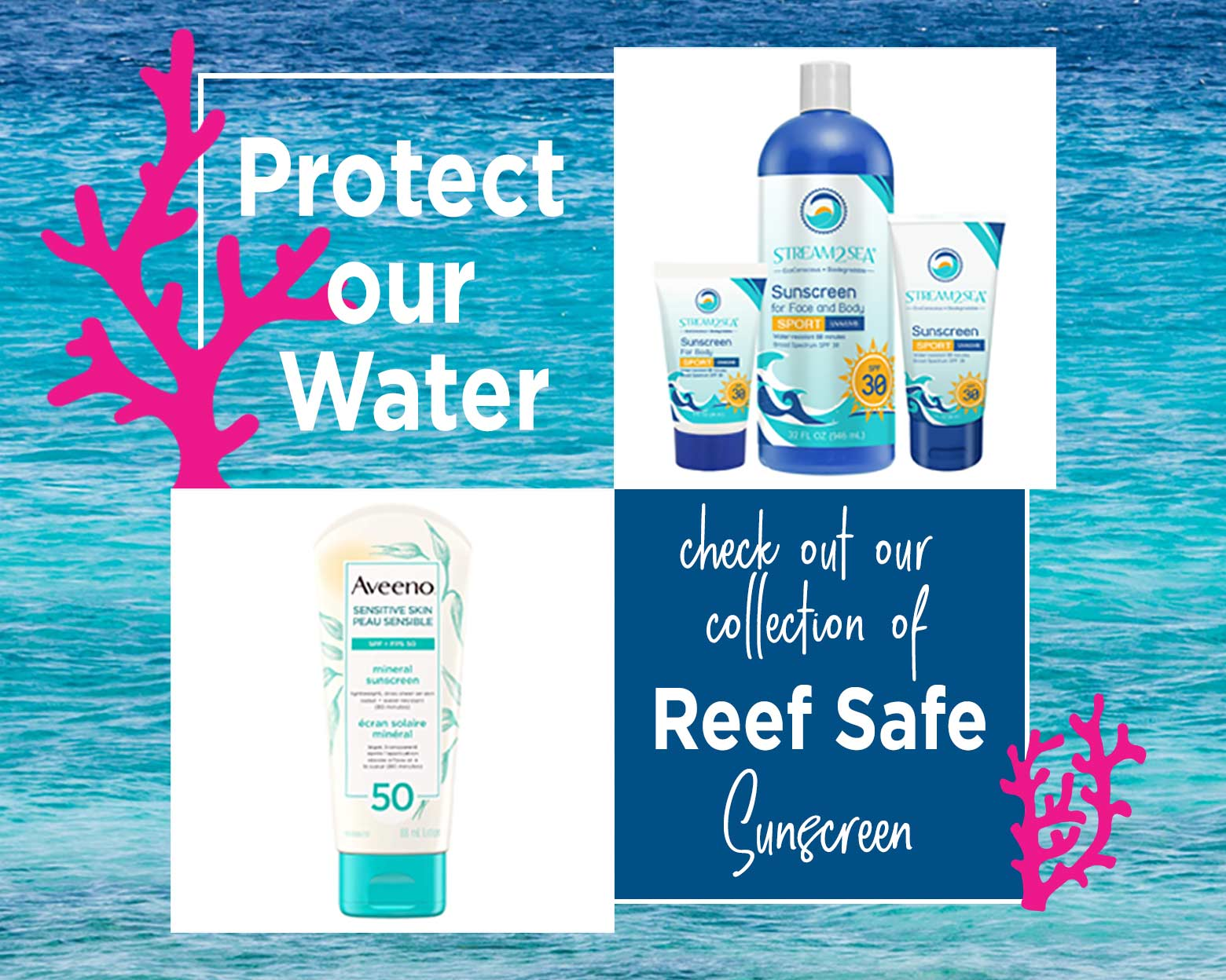Reef Safe Sunscreen Shop Ad