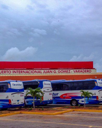 Cuban Resort Buses at the Airport