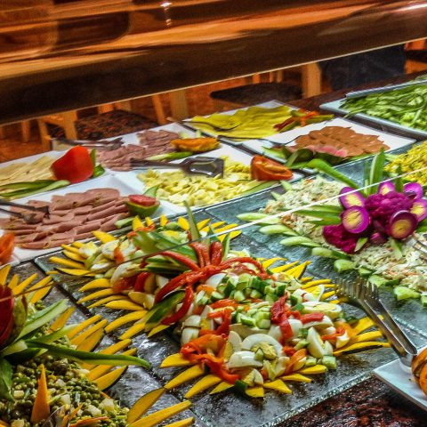 Cuban Resort Food Buffet