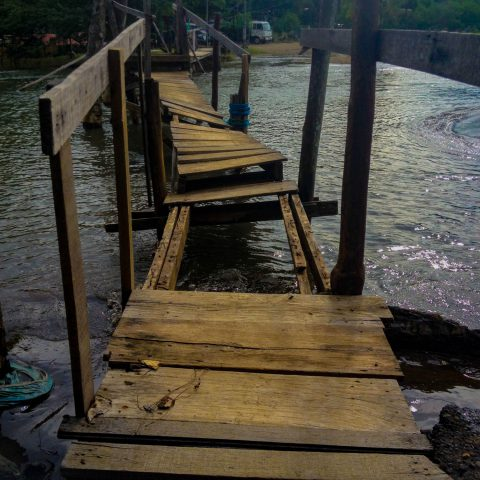 A Costa Rican Rickety Bridge