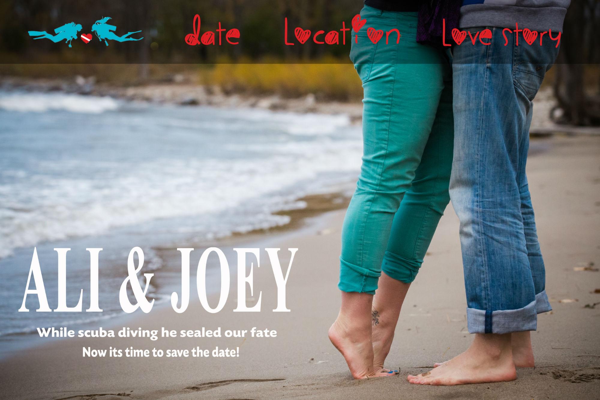 Ocean Wedding Save The Date