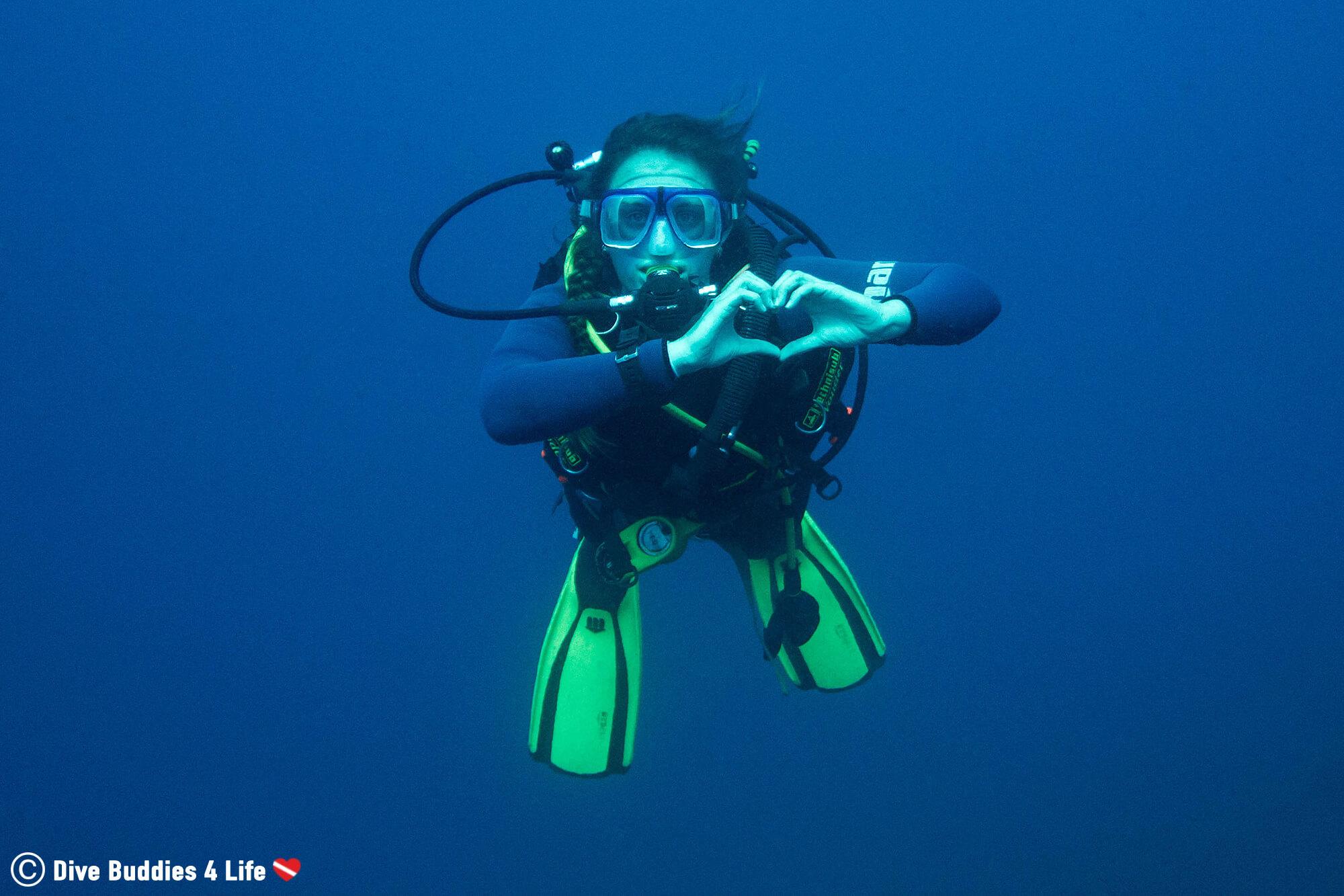 Ali Being a Scuba Diving Mediterranean Mermaid