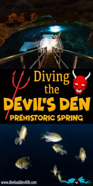 Scuba Diving The Devil's Den Spring System In Florida, USA