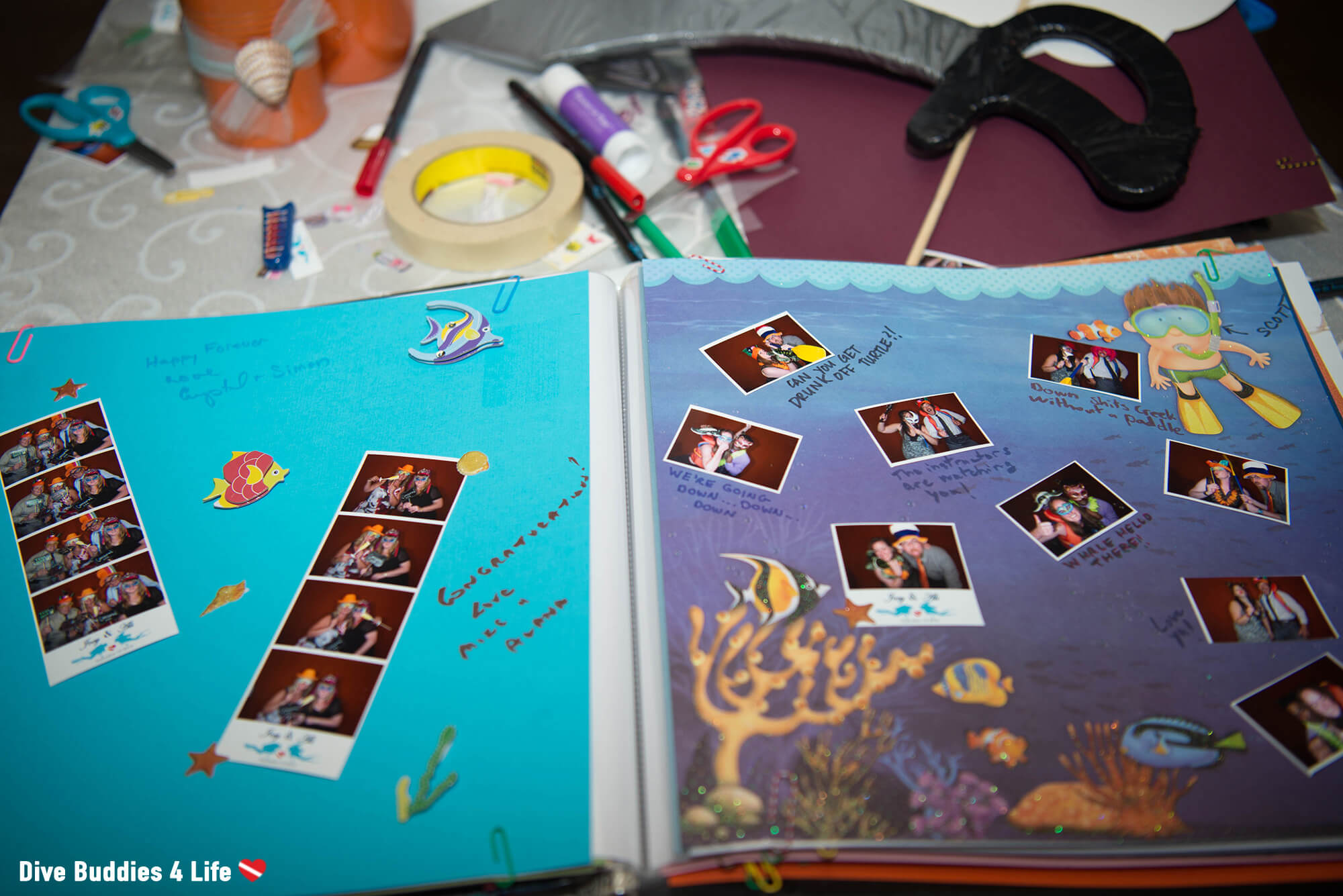 Scuba Diving Themed Guestbook From The Photo booth
