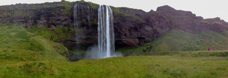 Seljalandsfoss Waterfall Front View