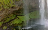 Looking Back into the Seljalandsfoss Waterfall Cave
