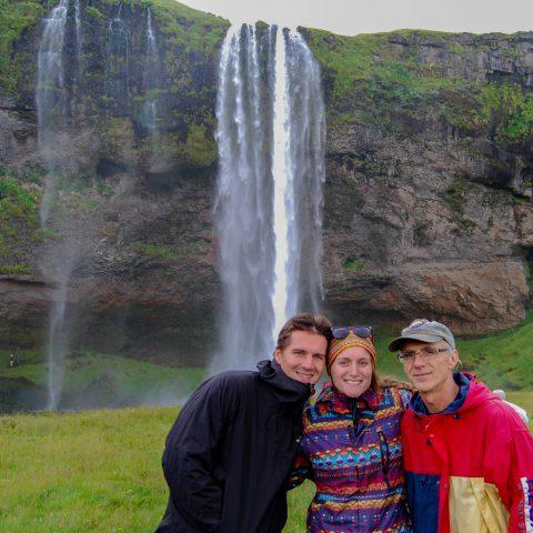 Seljalandsfoss Waterfall with Joey, Dad and Ali