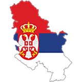 Serbia Country Flag And Shape