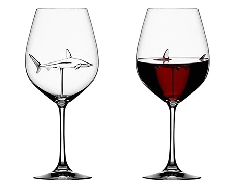 Shark Wine Glass Scuba Shop Product