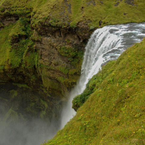 Skogafoss Waterfall Edge