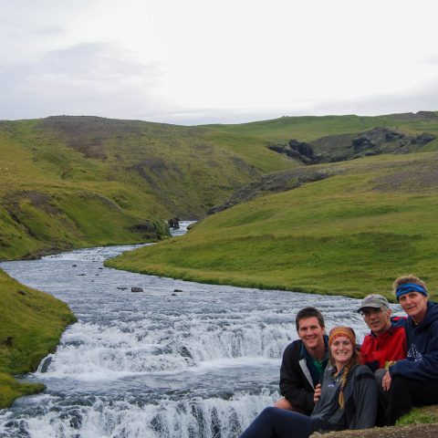 Skogafoss Family Picture by the Falls