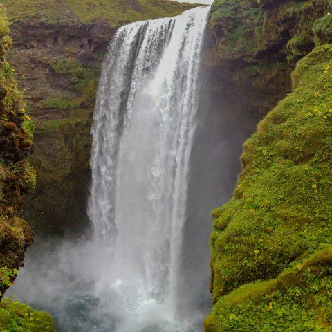 Skogafoss Waterfall Full View of the Falls