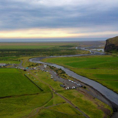 Iceland's Skogafoss View after the Climb