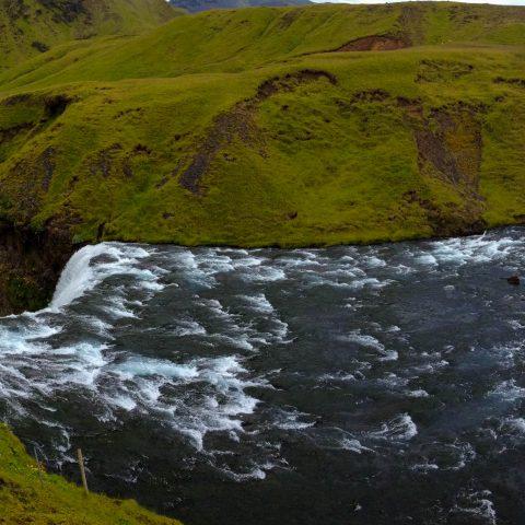 The Skogafoss Waterfall Peak