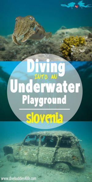 Slovenia Diving Pinterest Image