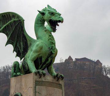 Slovenia - Serpent Statue