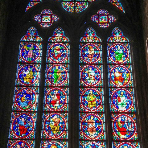 Stain Glass Window in Notre Dame
