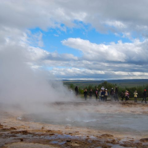 Steam after the Geyser Explosion in the Golden Circle