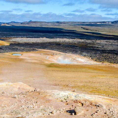Sulphure Field and Lava Stone