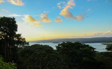 An Outdoor Sunset Landscape of La Fortuna, Costa Rica
