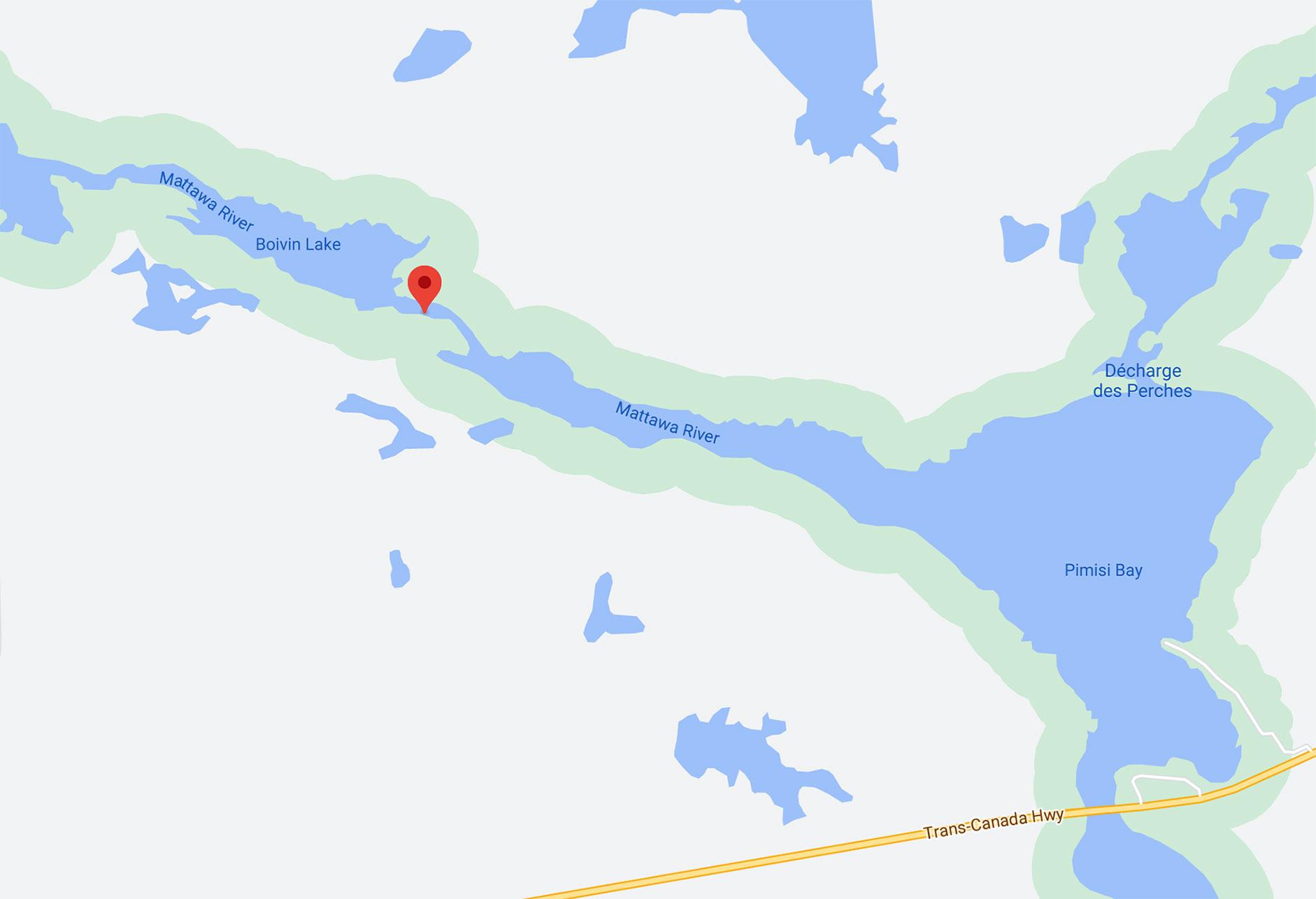 Talon Chutes Dive Site Google Map Location, Scuba Diving Ontario