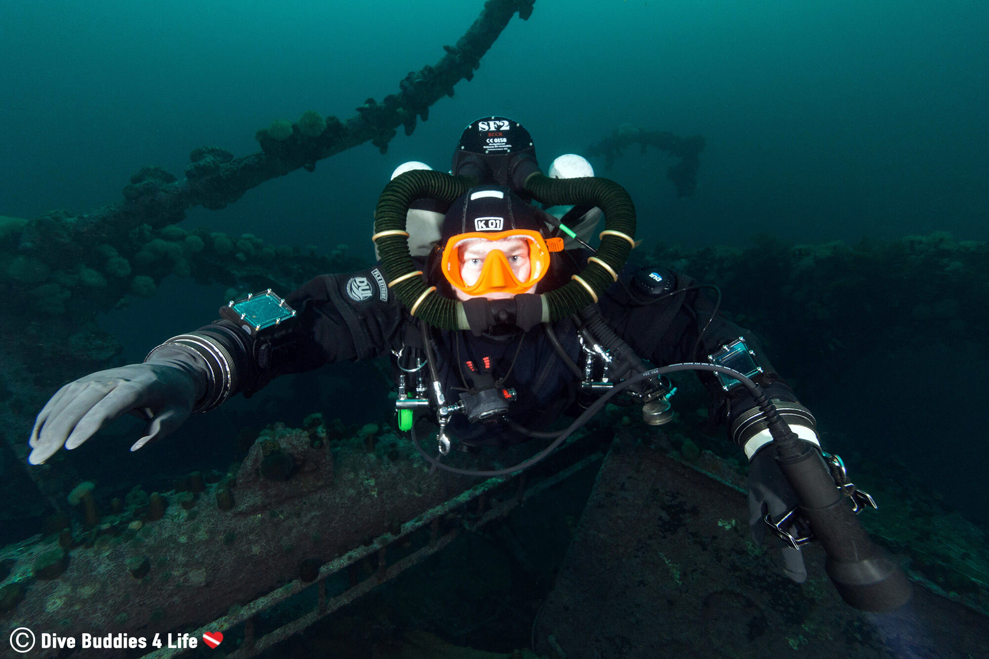 Technical Dive Mike On The Lord Strathcona Shipwreck In Newfoundland, Scuba Diving Canada