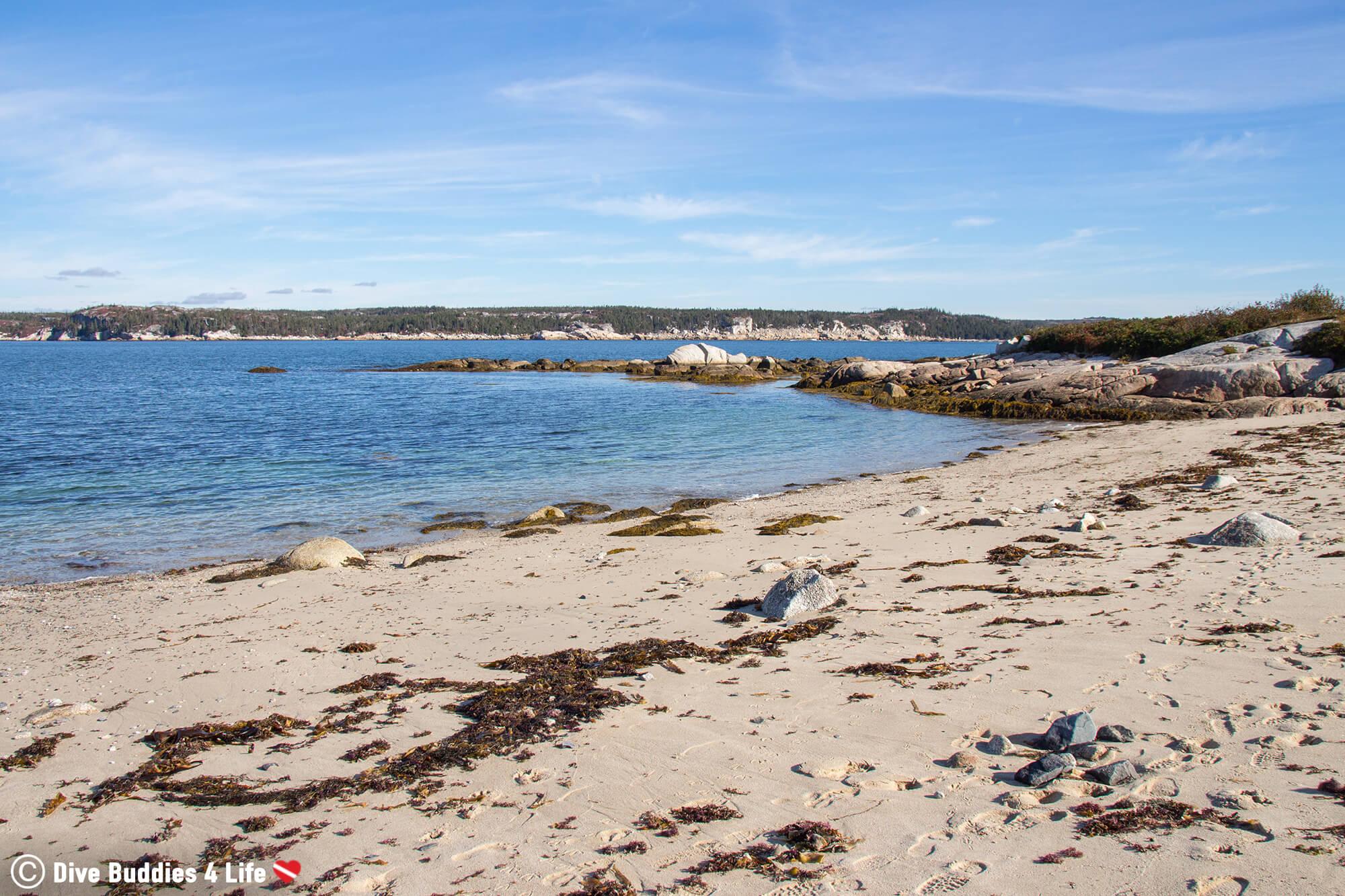 The Atlantic Ocean At Sandy Cove Beach In Halifax, Nova Scotia, Canada