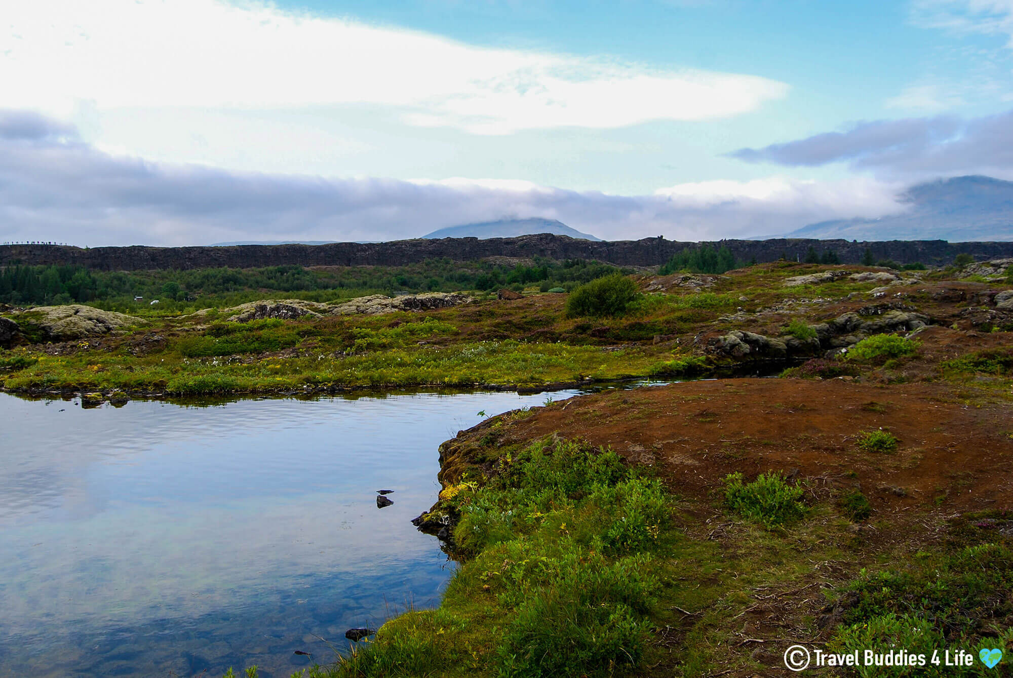 The Barren Landscape Of Þingvellir National Park And The Silfra In Iceland