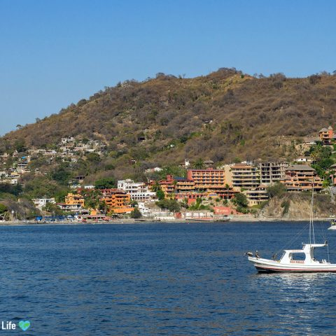 The Bay Of Zihuatanejo With Boats And Hotels, Mexico