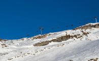 The Chair Lifts On The Flaine Mountain Peak
