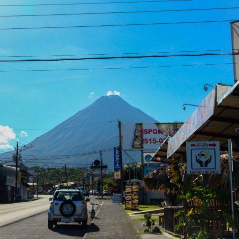 The City of La Fortuna in Costa Rica