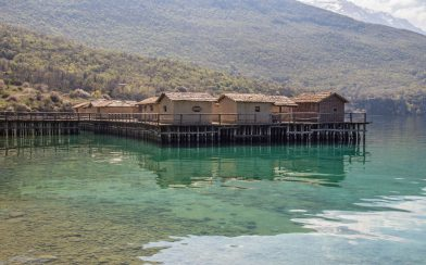 The Clear Water Of The Bay Of Bones Museum In Macedonia