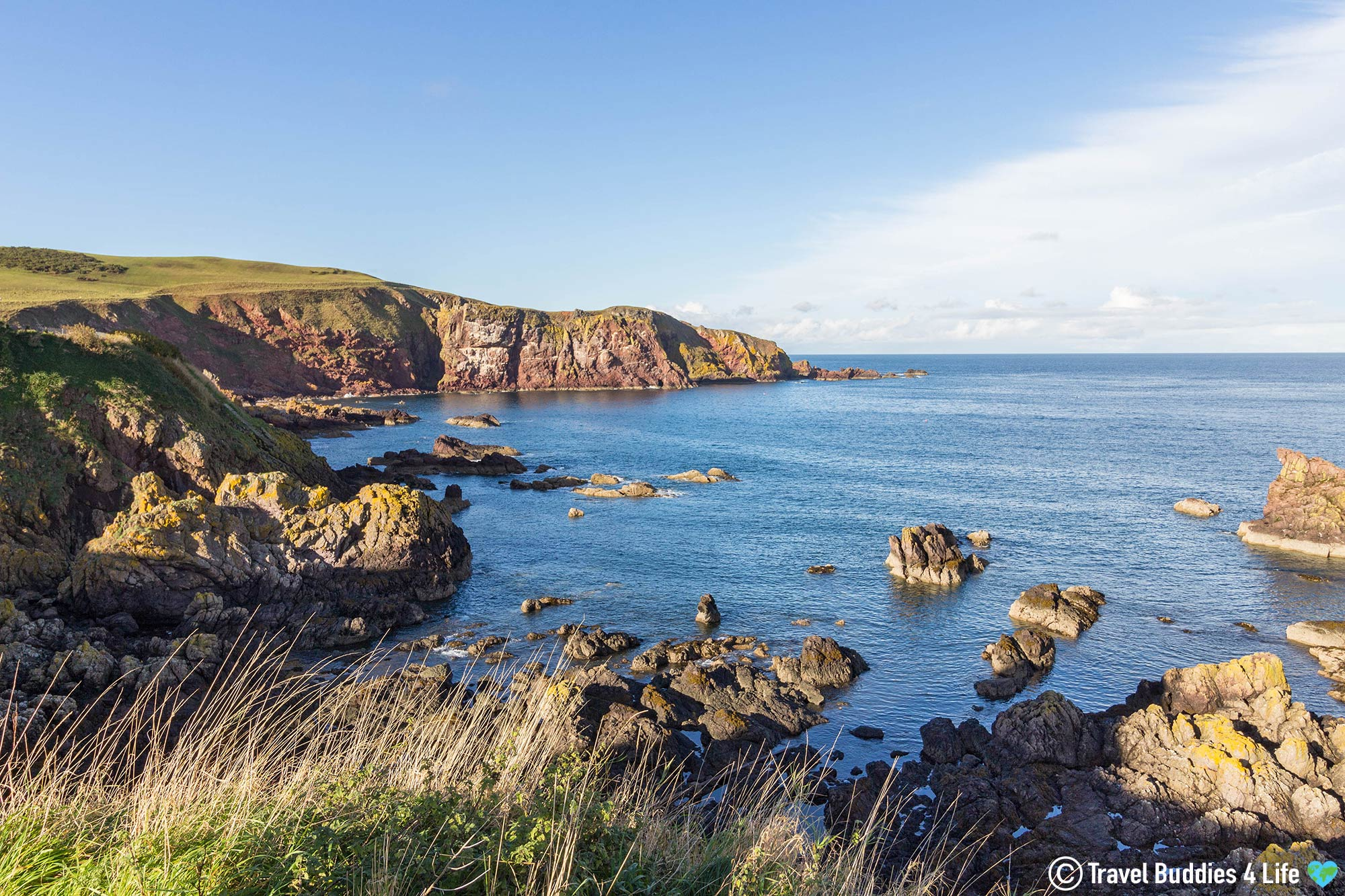 The Cliff And Rocky Shoreline Of St Abbs, Eastern Scotland