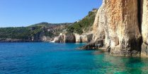 The Cliffs And Water Of The Island Of Zakynthos, Greece, Europe