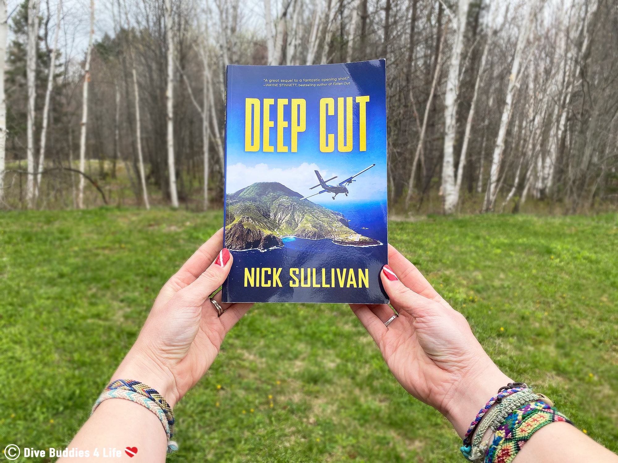 The Cover Of The Deep Cut Book And The Forest In The Background