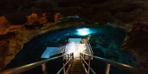 The Devil's Den Snorkelling And Scuba Diving Cave In Florida, USA