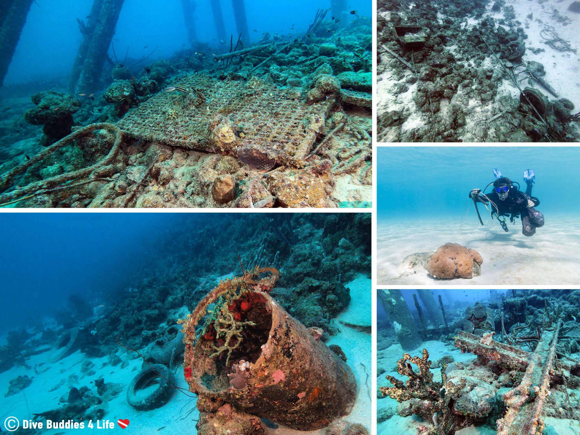 The Disturbing Amount Of Trash That Can Be Found At Various Dive Sites Around The Island Of Bonaire In The Dutch Caribbean