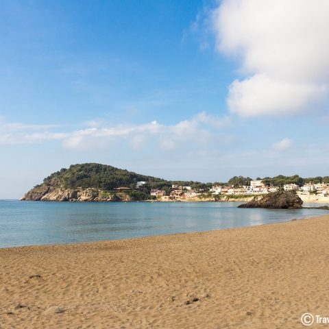 The Golden Beach Of Palamos, In Costa Brava, Spain, Europe